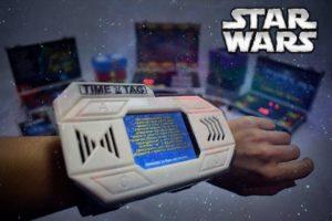 Игровая консоль показывает заставку в квесте Звездные войны