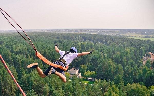 прыжки с веревкой с моста в харькове